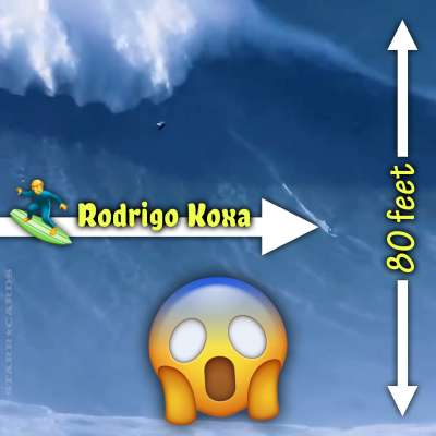 Rodrigo Koxa rides record 80-foot big wave at Nazaré, Portugal
