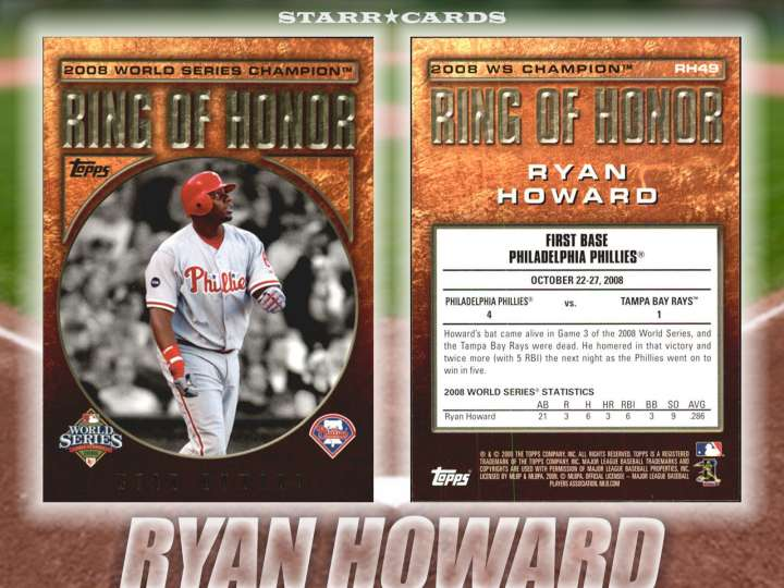 Ryan Howard Philadelphia Phillies baseball card