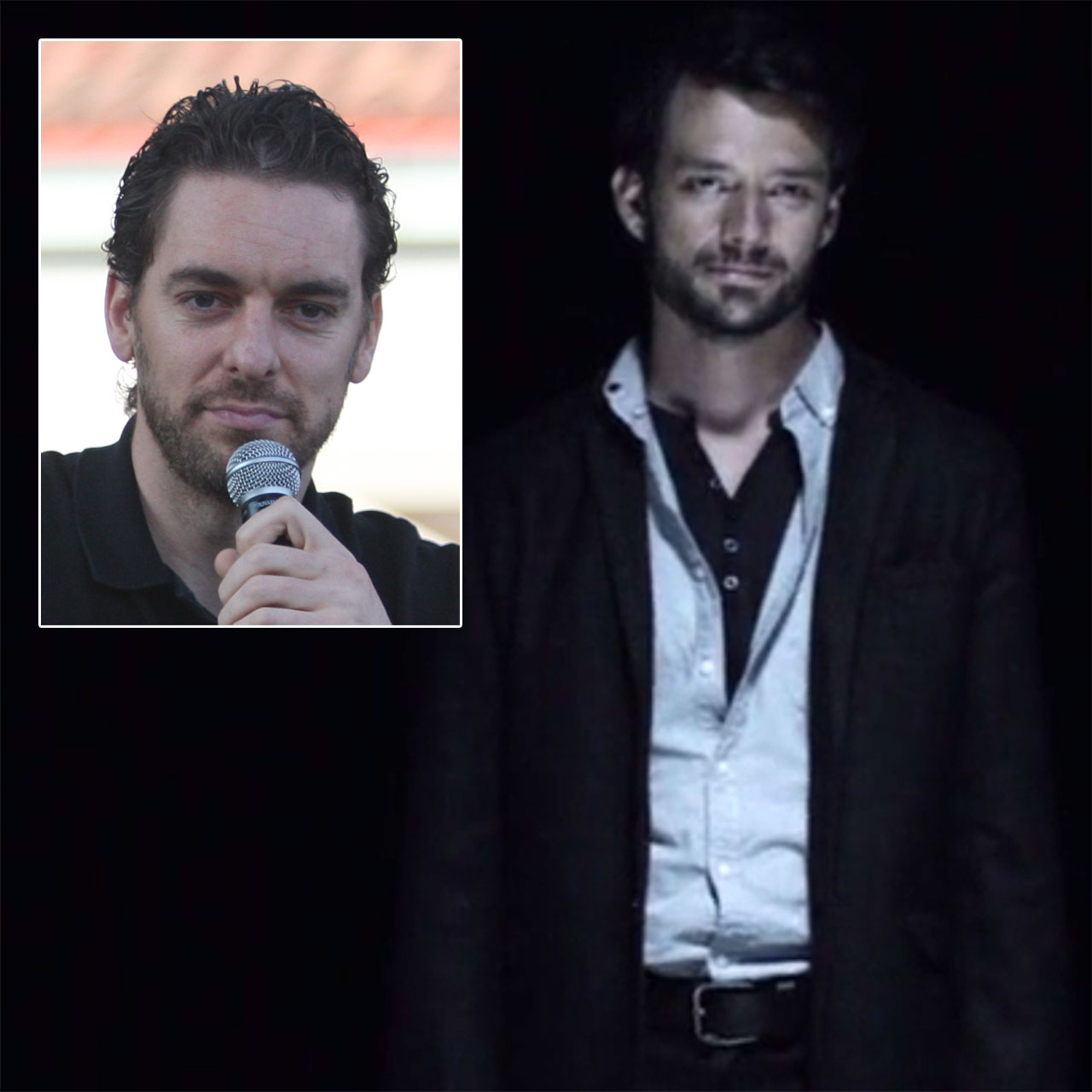 Separated at birth: Pau Gasol and Ben Winspear