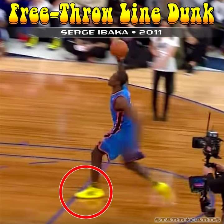 Serge Ibaka : 2011 free-throw line dunk