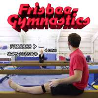 Shawn Johnson joins Brodie Smith for frisbee-gymnastics trick shots