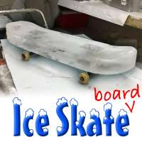 Skateboard made of ice brings new meaning to ice skating