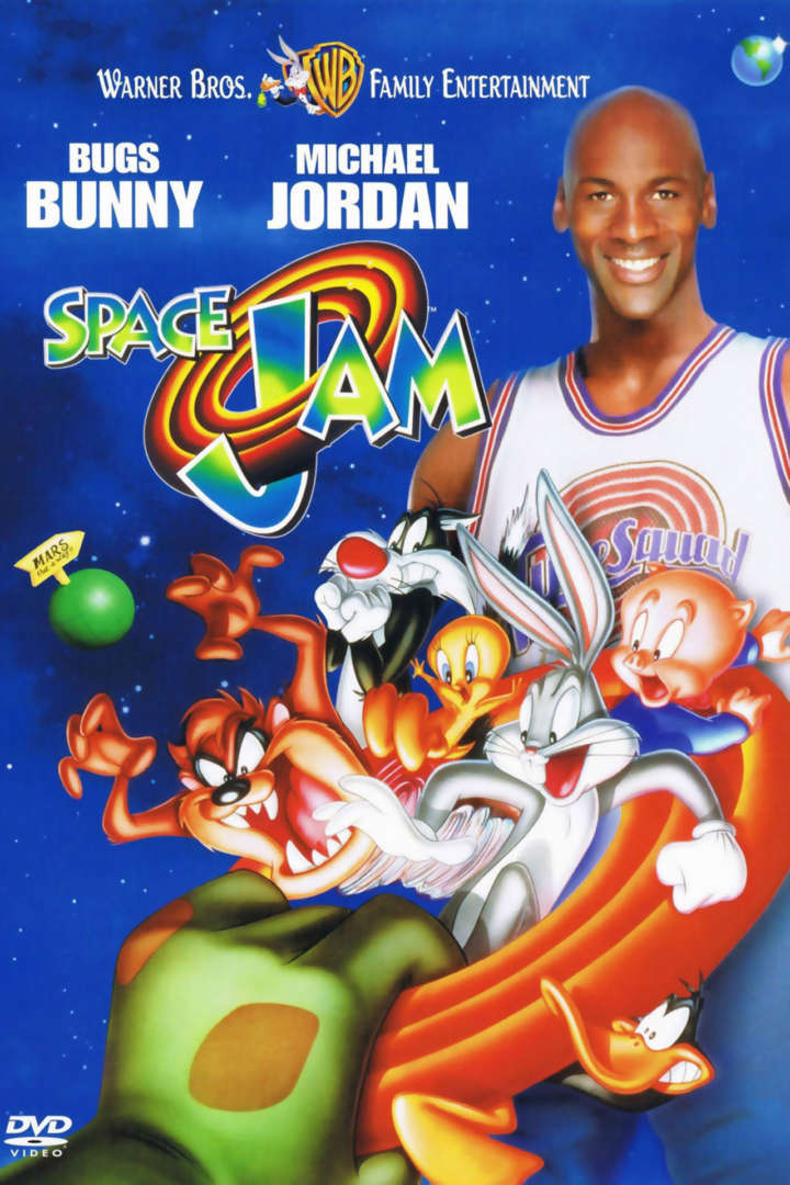 Space Jam (1996) poster with Bugs Bunny and Michael Jordan