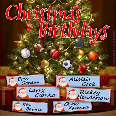 Sports stars with Christmas Birthdays: Eric Gordon, Alistair Cook, Larry Csonka and Rickey Henderson