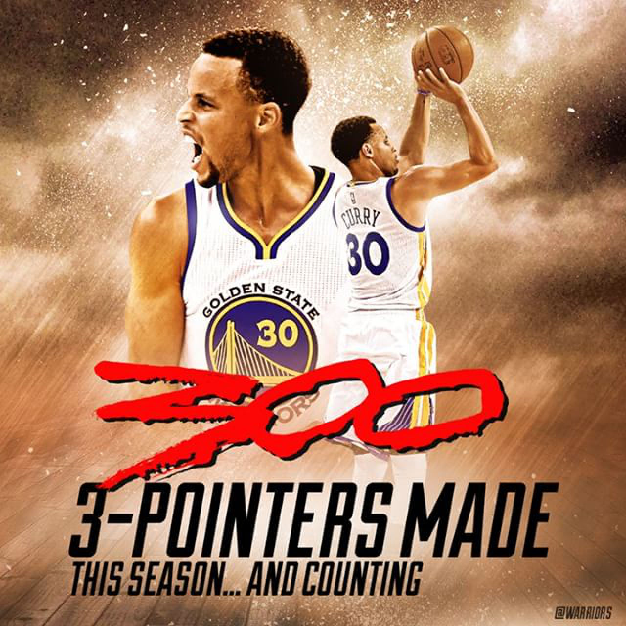 Steph Curry 300 3-pointers... and counting