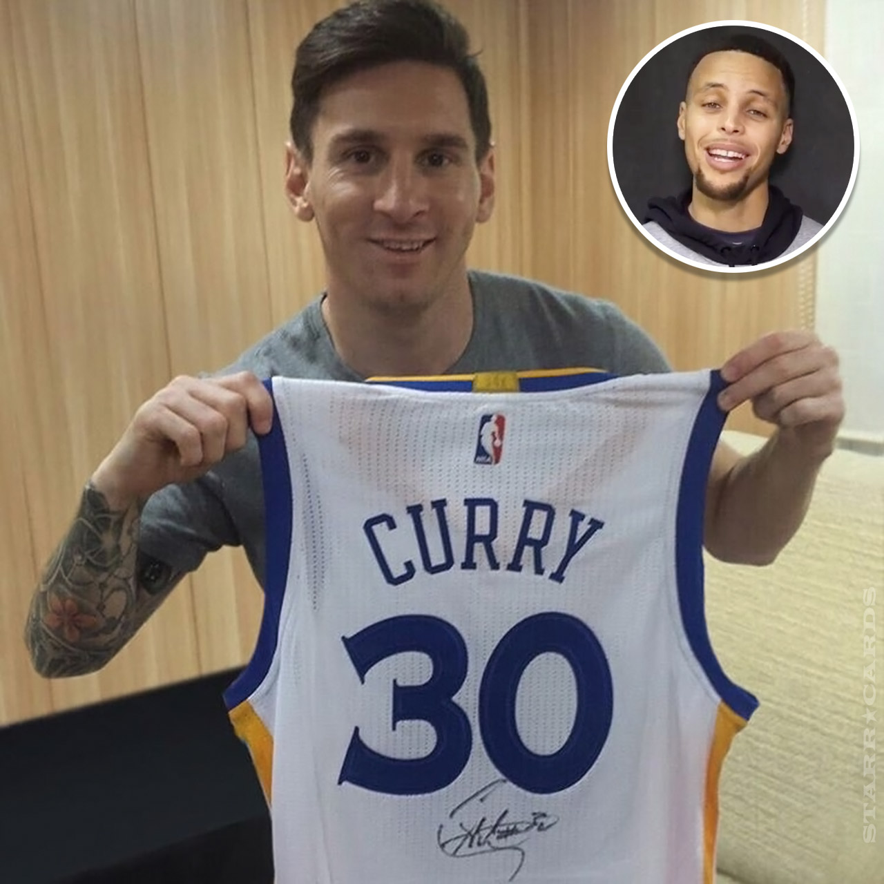 Steph Curry initiates jersey swap with Lionel Messi