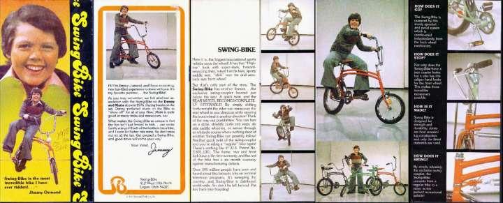 Swing Bike brochure featuring Jimmy Osmond