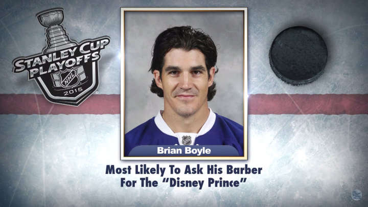 "Tampa Bay Lightning center Brian Boyle on ""Tonight Show Superlatives"" read by Jimmy Fallon"
