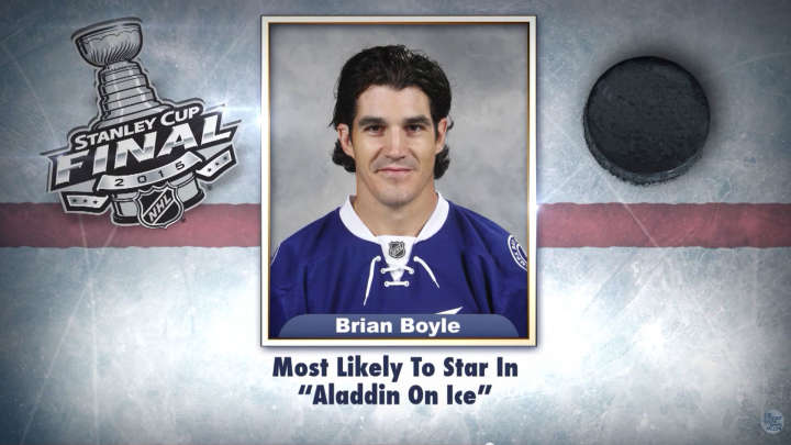 "Tampa Bay Lightning's Brian Boyle on ""Tonight Show Superlatives"" read by Jimmy Fallon"