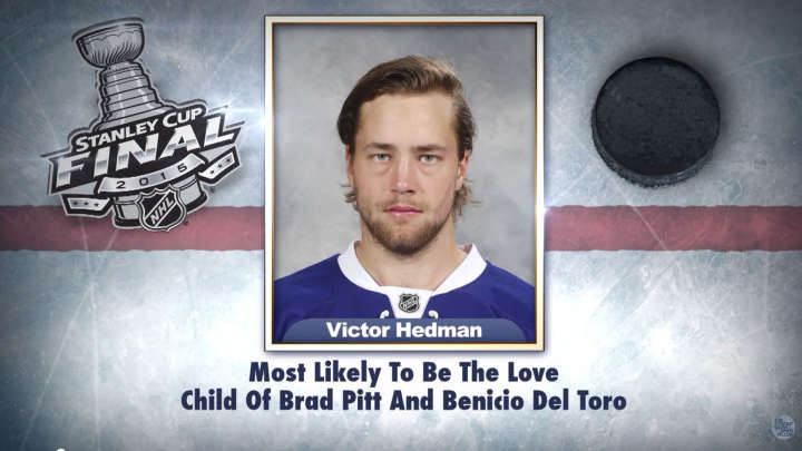 "Tampa Bay Lightning's Victor Hedman on ""Tonight Show Superlatives"" read by Jimmy Fallon"