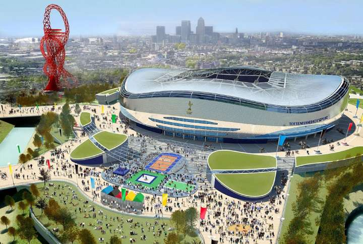 Tottenham FC's proposed Olympic Stadium makeover