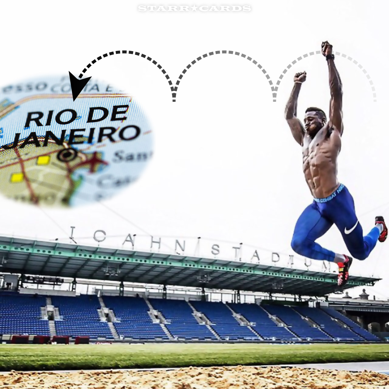 Triple jump to Rio with former New York Giants RB David Wilson