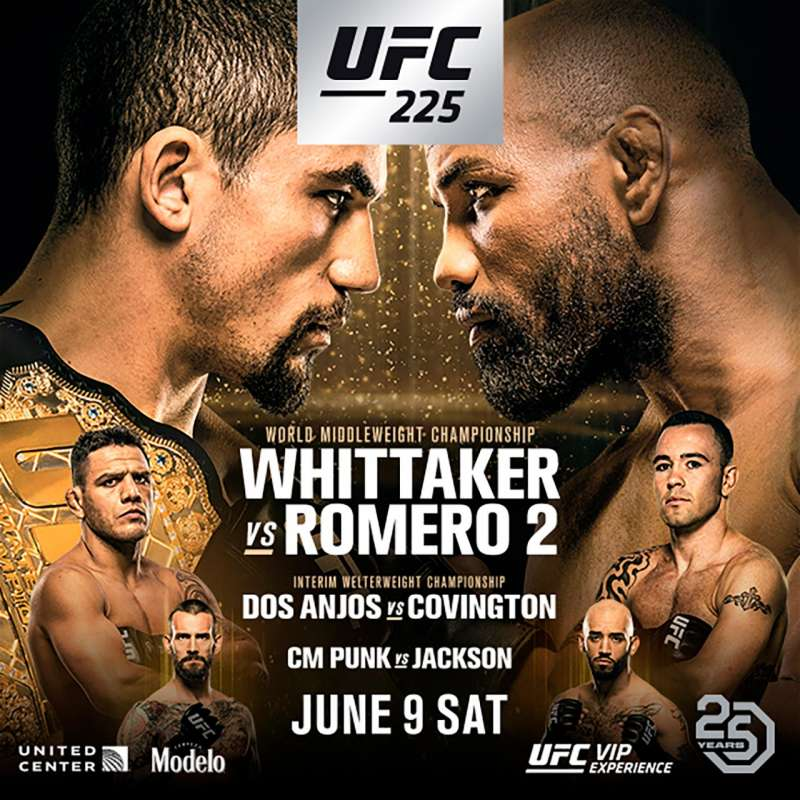 UFC 225 Robert Whittaker vs Yoel Romero 2