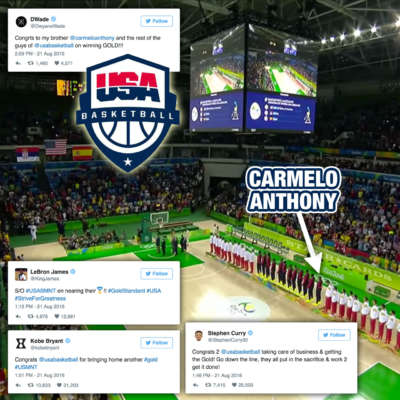 USABMNT wins Rio 2016 Olympics gold, gets kudos from Dwyane Wade, LeBron James, Kobe Bryant
