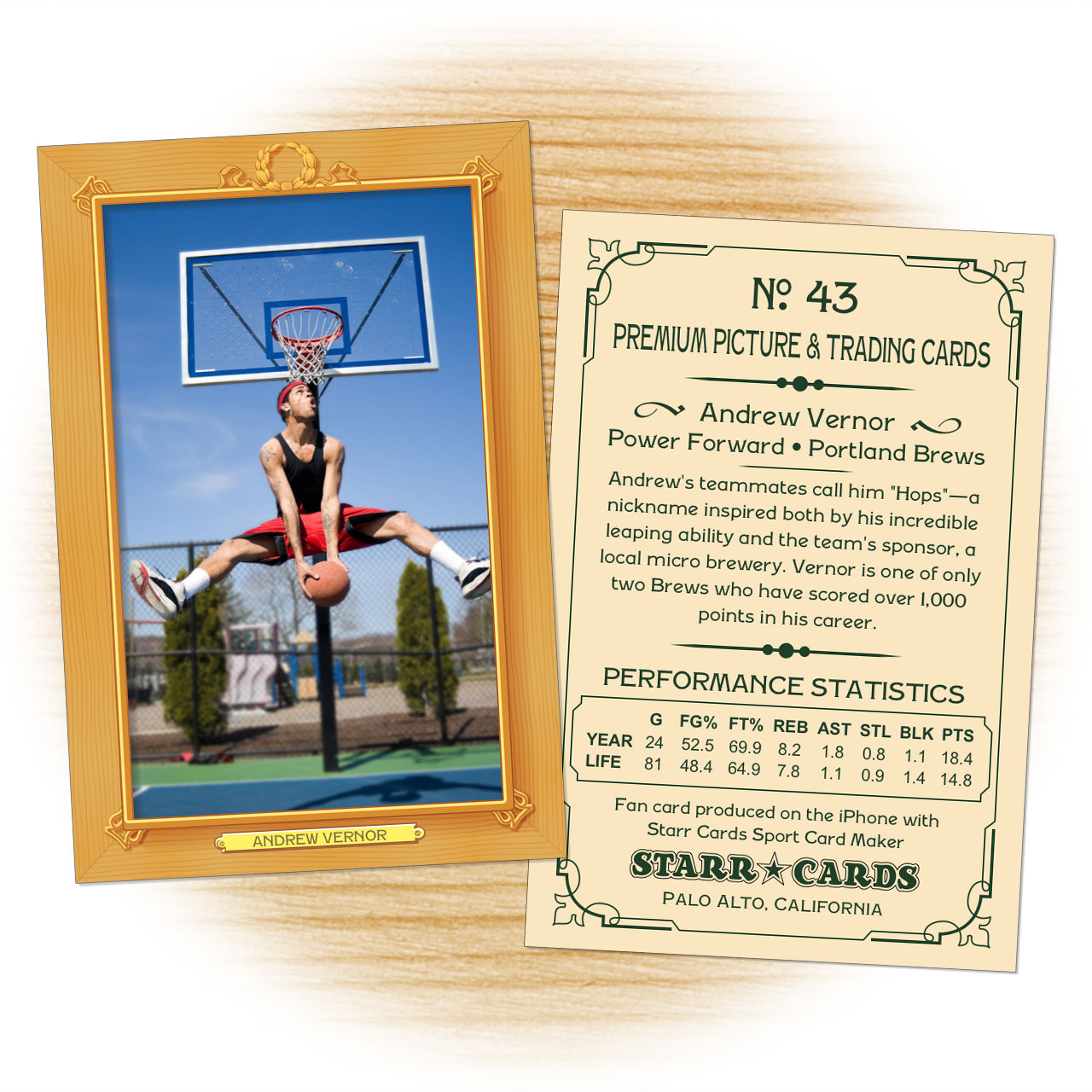 Vintage 11 Series custom basketball cards