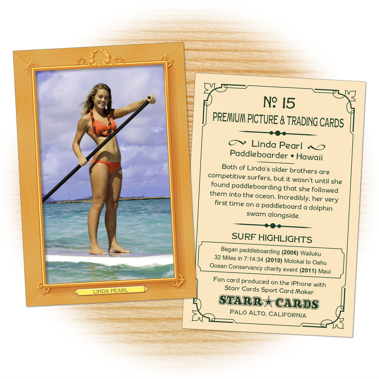 Vintage 11 Series custom surfing cards