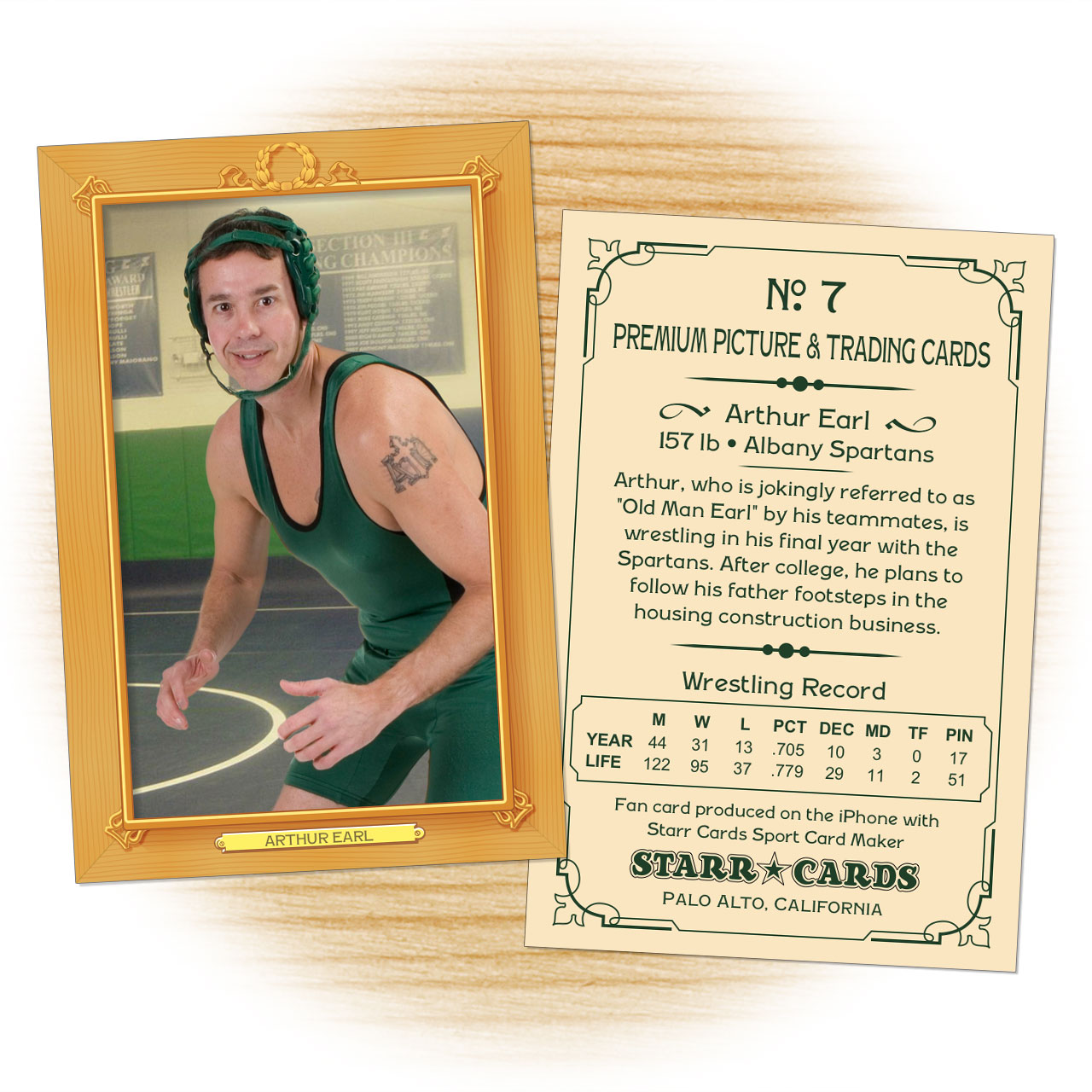 Vintage 11 Series custom wrestling cards
