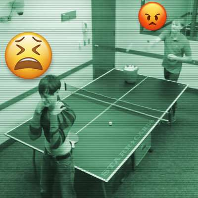 VISCIPAM: Men and ping pong experiment from Studio C