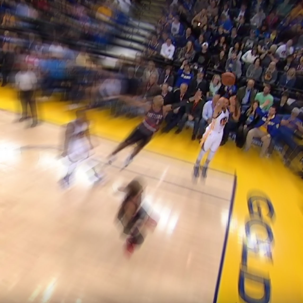 Warriors' Stephen Curry hits seven 3-pointers versus Blazers