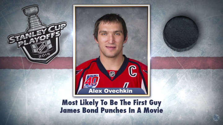 "Washington Capitals' Alex Ovechkin on ""Tonight Show Superlatives"" read by Jimmy Fallon"