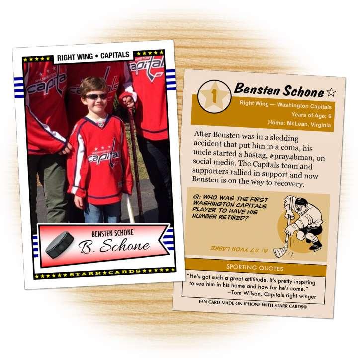 Washington Capitals fan Bensten Schone