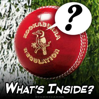 What's inside a Kookaburra regulation cricket ball?