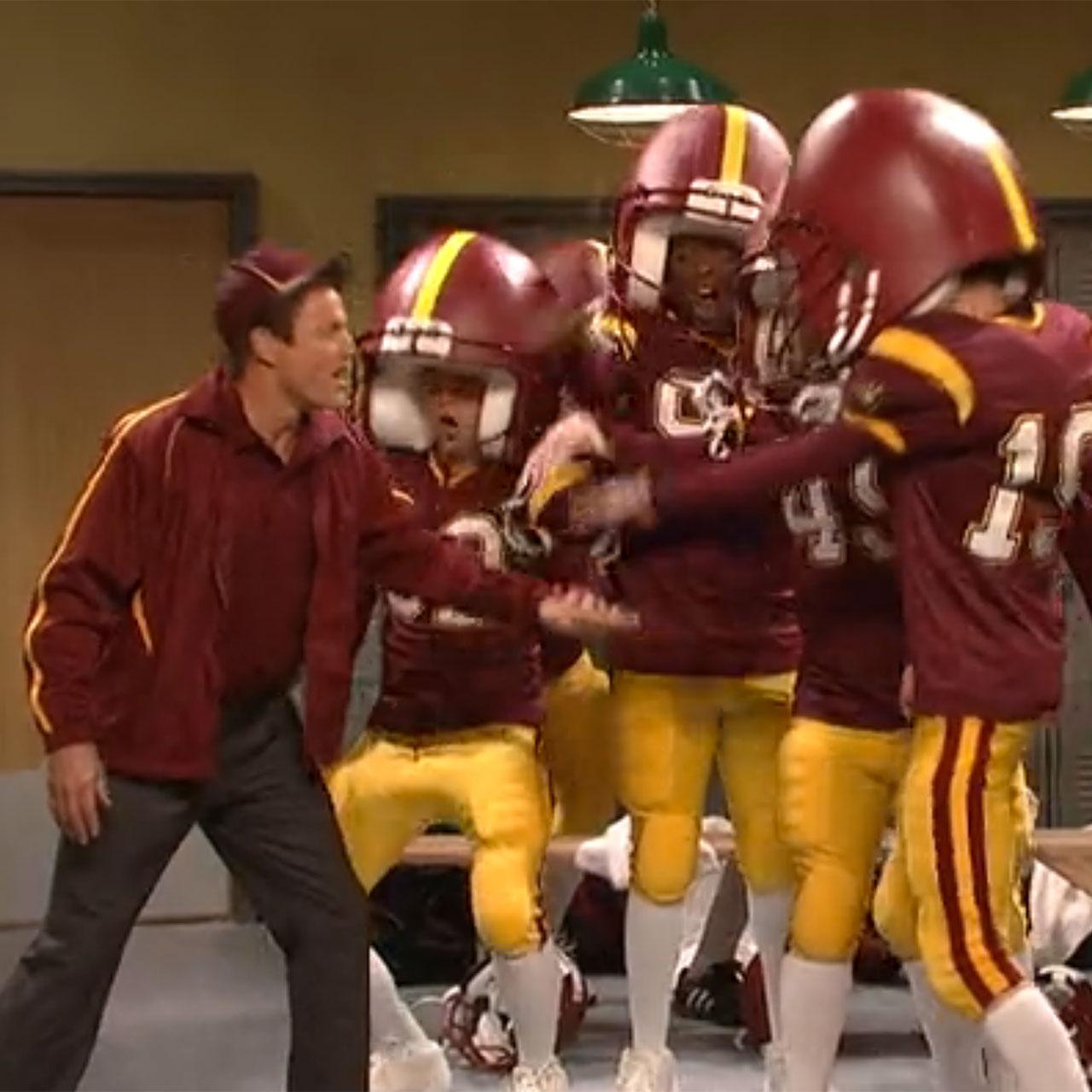 Woody Harrelson appears as a high school football coach on SNL