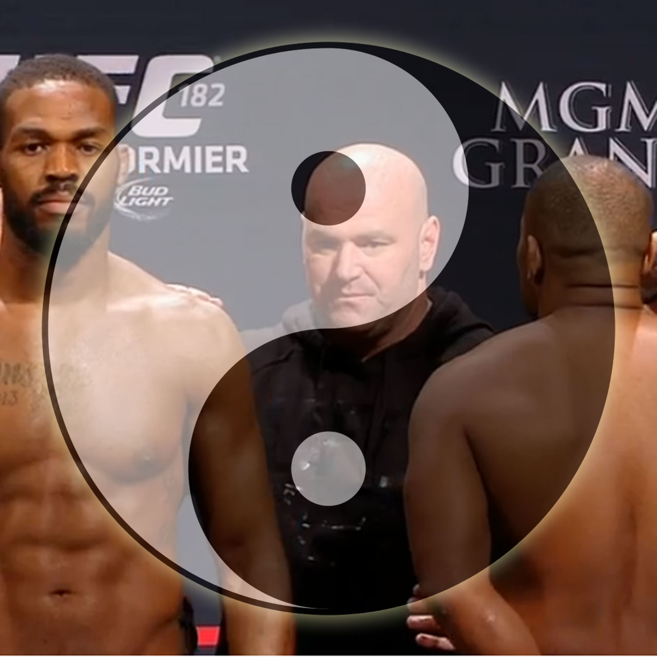 Yin Yang: Jon Jones and Daniel Cormier before UFC 182