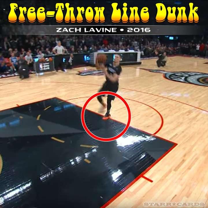 Zach LaVine : 2016 free-throw line dunk