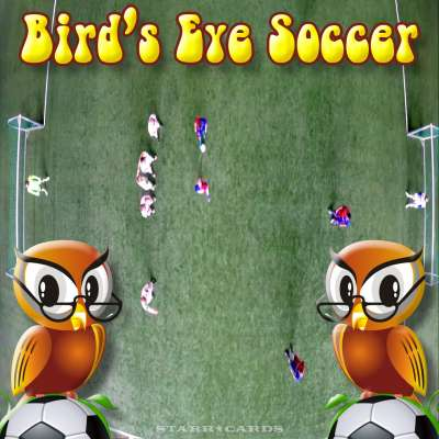 Bird's-eye view football aka bird's-eye view soccer