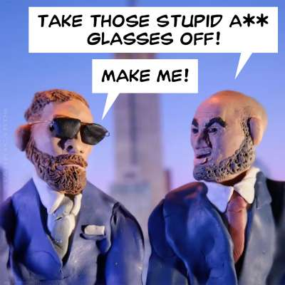 Conor McGregor and Eddie Alvarez snipe at each other in AZXD claymation