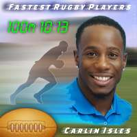 Fastest Rugby Players: Carlin Isles is speediest with 10.13 seconds in the 100 m