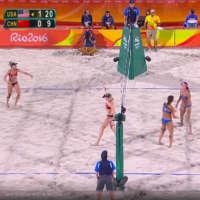 Kerri Walsh-Jennings, April Ross crush China in Olympic beach volleyball