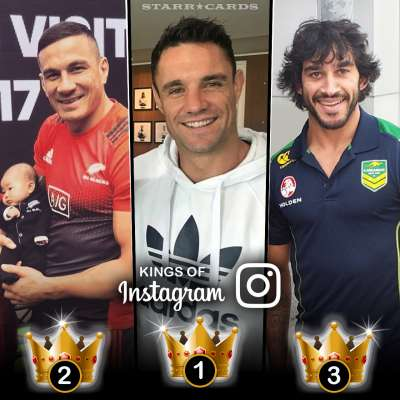 Kings of Instagram: Dan Carter, Sonny Bill Williams, Johnathan Thurston rule rugby
