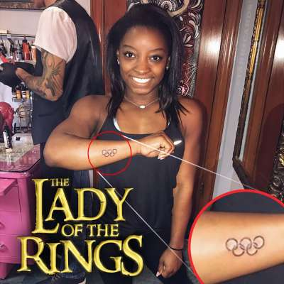 Lady of the Rings: Simone Biles gets an Olympic tattoo