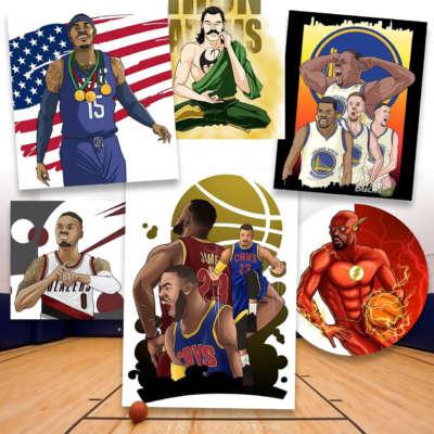 LeBron James, Carmelo Anthony, Damian Lillard, Dwyane Wade get tooned by Brain Bucket