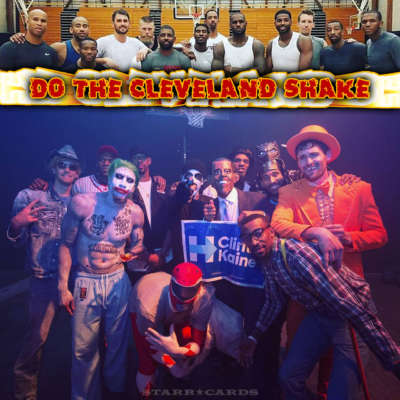 LeBron James, Kyrie Irving, Cleveland Cavaliers do the Cleveland Shake at Halloween party