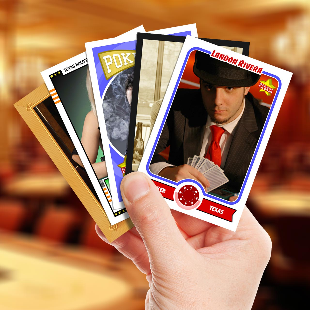 Make your own poker card with Starr Cards.