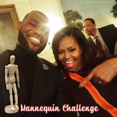 Mannequin Challenge with LeBron James, Michelle Obama, and Channing Frye