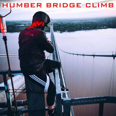 Night Scape sits atop Humber Bridge, England's tallest