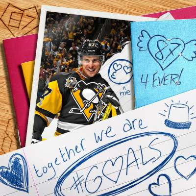 Pittsburgh Penguins Valentine from Sidney Crosby