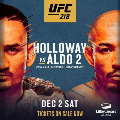 Poster for UFC 218: Halloway vs Aldo 2