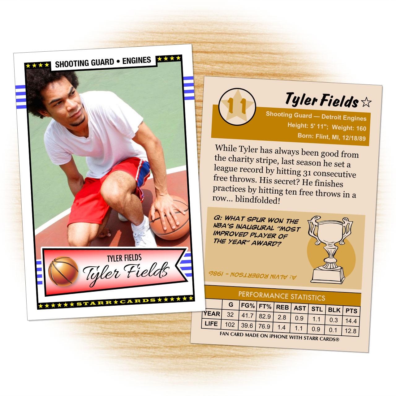 Retro 50 Series custom basketball cards