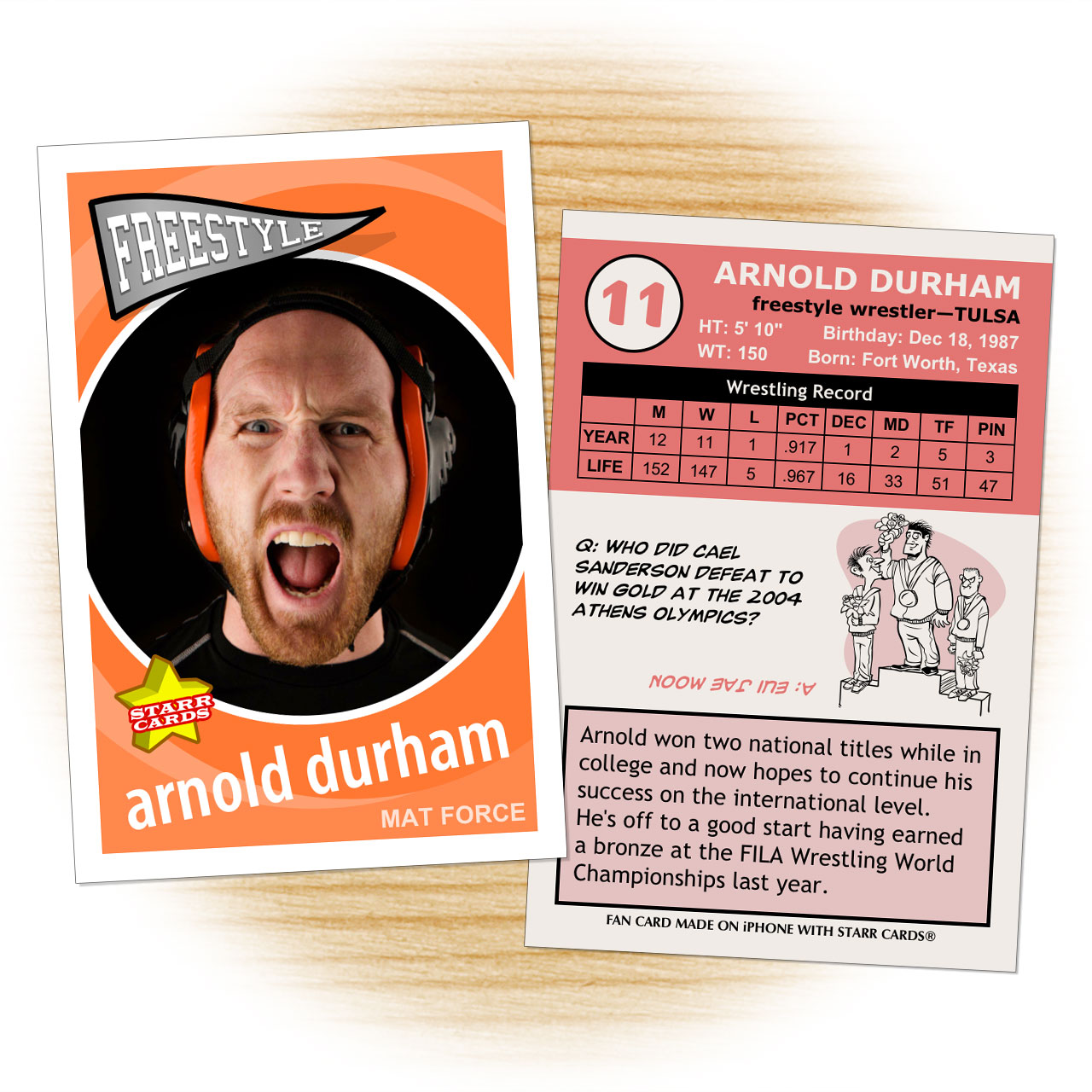 Retro 60 Series custom wrestling cards