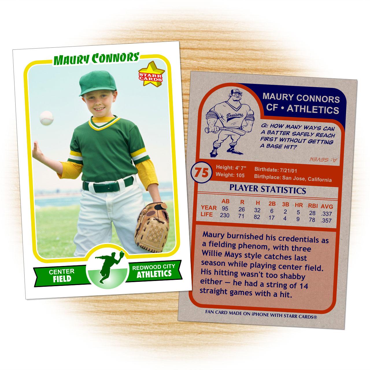Retro 75 Series custom baseball cards