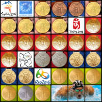 Starr Cards infographic showing every Olympic medals won by Michael Phelps