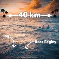 Strongman Swimming: Ross Edgley attempts 40km swim with 100-lb log between Caribbean islands