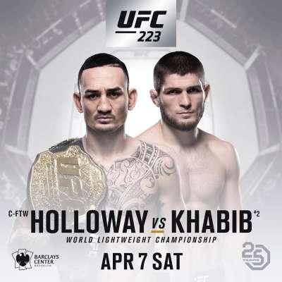 UFC 223: Max Holloway vs Khabib Nurmagomedov