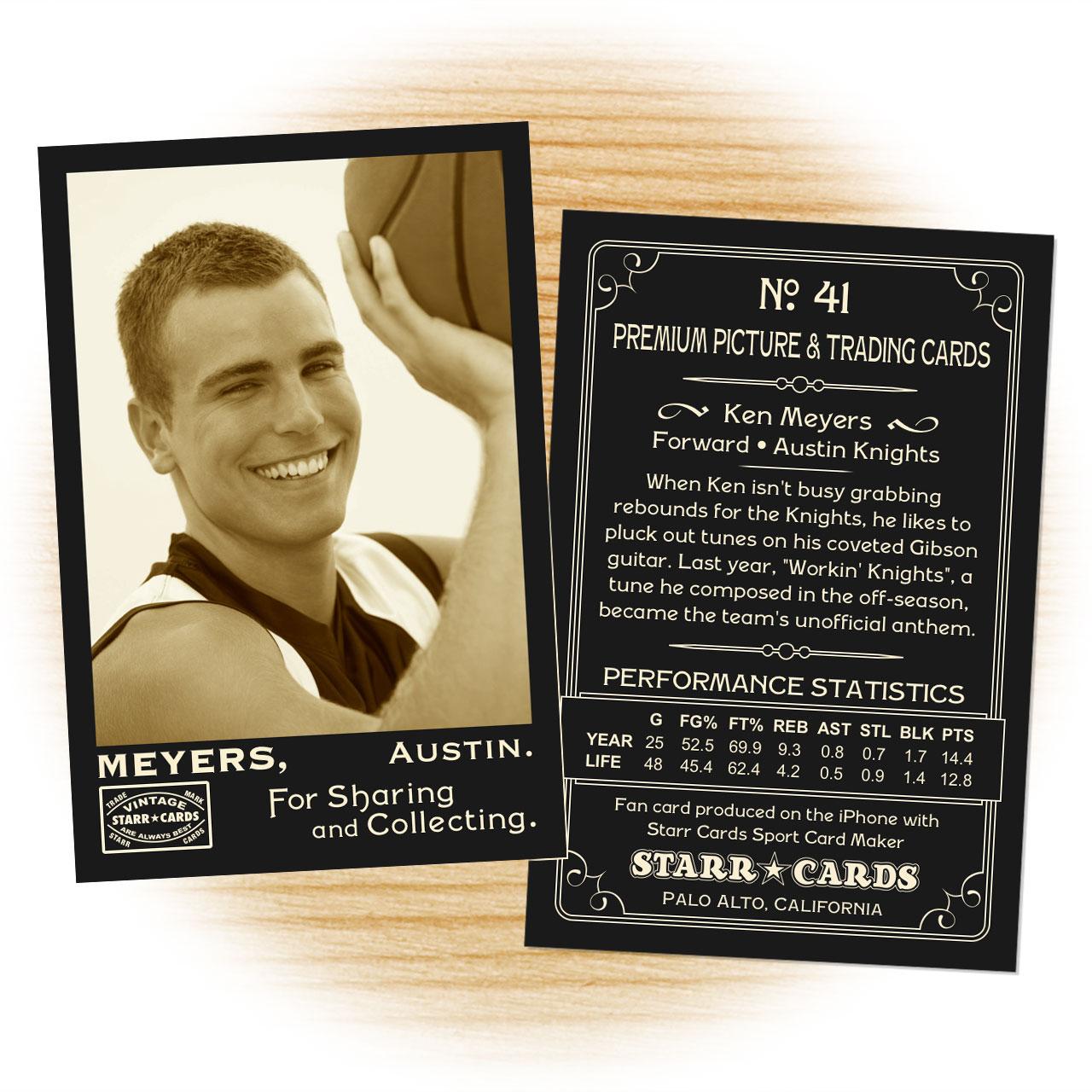 Vintage 95 Series custom basketball cards
