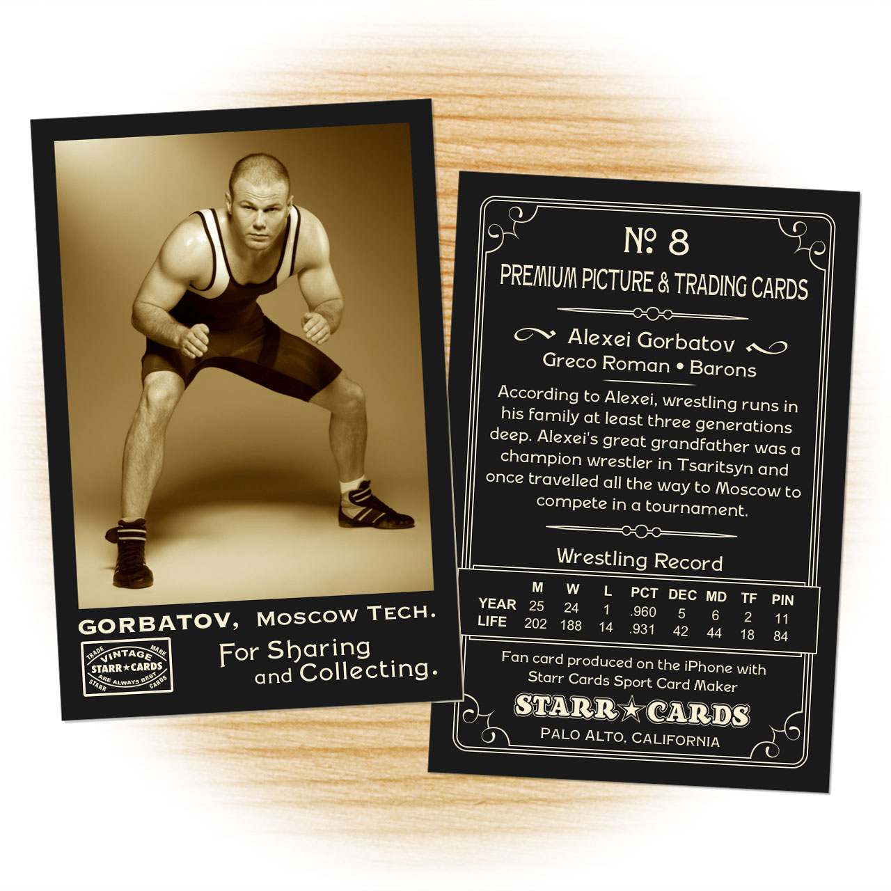 Vintage 95 Series custom wrestling cards
